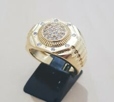 18K Gold Iced Out Hip Hop AAA CZ  Micro Pave Bling Bling Hip Hop M'ens Ring