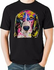 Beagle T Shirt Neon Portrait Dog Puppy Eyes Mens Sizes Small to 6XL and Tall