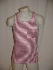 JOR Shirt Sleeveless Shirt Tank Capri Tank Top 0369 Red White Striped NEW