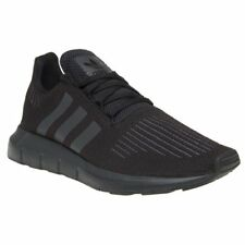 New Mens adidas Black Swift Run Primeknit Textile Trainers Running Style Lace Up