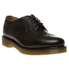 New Boys Dr. Martens Black 3989 Leather Shoes Lace Up