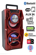 Altavoz Bluetooth Karaoke con Reproductor de MP3 y Luces LED