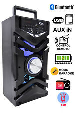 Altavoz con Karaoke Reproductor Bluetooth de MP3  y Luces LED
