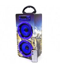 Altavoz Exclusivo con Bluetooth Reproductor de MP3 USB y Tarjetas SD con RadioFM