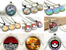 Lovely Anime Pokemon Pendant Jewelry Cabochon Glass Dome chain Necklace Gift