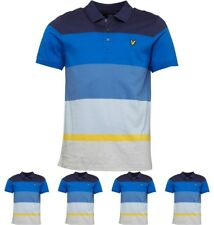 """MODA Lyle And Scott Mens Engineered Stripe Polo Navy X-Small Chest 30-32"""""""