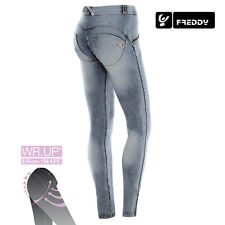 Freddy WR.UP Jeans Skinny SLAVATO WRUP1RJ14E J19/Y in denim bleached chiaro NEW