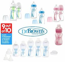 Dr Brown Options Baby Feeding Bottles Wide Neck Anti-Colic Pink / Blue DR BROWNS