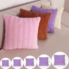 Shaggy Faux Fur Cushions Covers Plush Throw Pillow Cases Soft Cuddly Cosy Modern