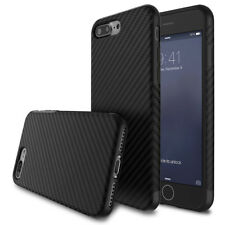Luxury Shockproof Carbon Fiber Slim Soft Back Case Cover For iPhone X 7 6 8 Plus