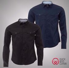 Mens Branded Duck And Cover Stylish Casual Long Sleeve Shirt Size S M L XL XXL