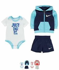 MODA Nike Block Hood Set Baby Boys D.Grey Heather