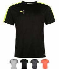 MODA Puma Evo Training T Shirt Mens Black/Yellow