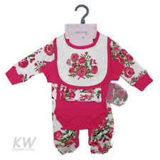 Baby Clothes 5 Piece Gift set girl layette Chloe Louise Pink Floral NB 0-3 3-6m