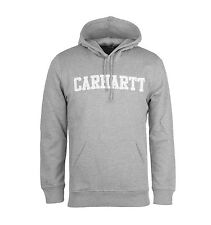 CARHARTT HOODED COLLEGE SWEAT GRIS CLAIR - homme à capuche en French terry
