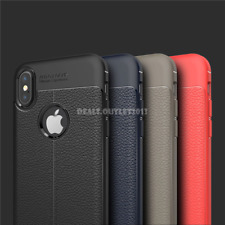 For Apple iPhone X iPhone 10 New Autofocus Luxury Leather TPU Back Cover Case