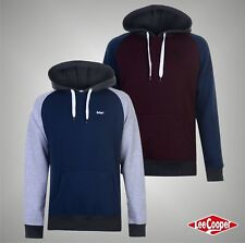 Mens Designer Lee Cooper Stylish Contrasting Sleeves OTH Hoody Top Size S-XXL