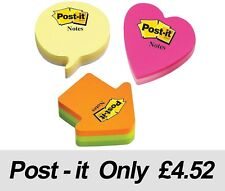 Post It Note Shaped Sticky Notes, Arrow, Heart or Speech - Same Day Dispatch