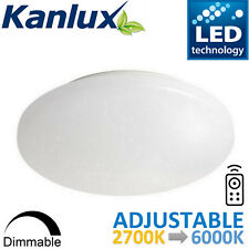 Decorative LED Ceiling Light Bulkhead Dimmable Remote 2700K to 6000K Adjustable