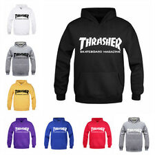 Revista Thrasher Magazine Logo Sudadera  Hooded Sweatshirt Hoodie Rare Offical