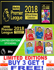 Topps - Merlin PREMIER LEAGUE 2018  LIMITED EDITION STICKERS *Buy 3 Get 1 Free*