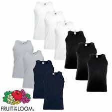 5/10er Fruit of the Loom Herren Valueweight Tank Top Muskelshirt T-Shirt S-XXL