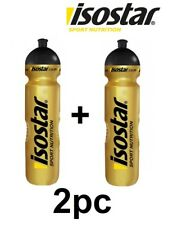 2pcs Gold Black Silver Isostar 1000ml water drinks bottle Hiking Sports Running