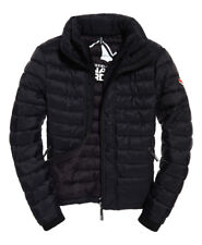 Superdry Mens SD X Fuji Triple Zip Through Jacket Quilted Windcheater Black
