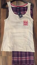 ladies official licensed manchester city  football club pyjamas