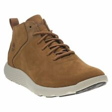 New Mens Timberland Tan Flyroam Super Ox Nubuck Boots Chelsea Lace Up