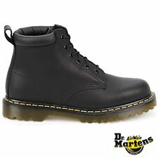 DR. MARTENS BLACK LEATHER 939 BEN BOOT 6 EYELET PADDED COLLAR
