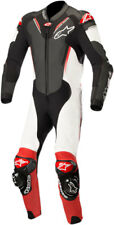 Alpinestars ATEM v3 1-Piece Leather Motorcycle Riding Suit (Black/White/Red)