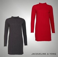 Ladies Branded Jacqueline De Yong Stylish High Neck Long Sleeve Dress Size 8-14