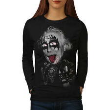 Albert Einstein Kiss Women Long Sleeve T-shirt NEW | Wellcoda