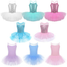 Kids Girls Ballet Leotard Tutu Dance Dress Sequin Ballerina Costumes Dancewear