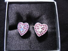 PLAYBOY DIAMANTE PINK BUNNY DIAMANTE HEART EARRINGS OR NECKLACE BRAND NEW
