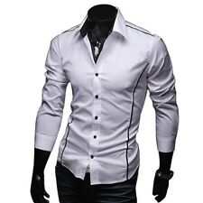 BOLF 4751a Chemise forme slim pour homme taille??e S-XXL 3 couleurs