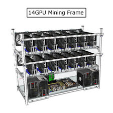 Alluminio Open Air Mining Miner Impilabile Frame Rig 14 GPU For ETH Ethereum