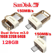 SanDisk 16/32/64/128GB OTG USB Dual M3.0 USB3.0 Flash Drive Memory Stick Gold