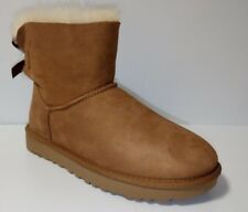 Women's Shoes UGG Mini Bailey Bow II Boots Chestnut *New* Style 1016501