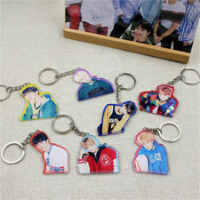 KPOP BTS Keyring Bangtan Boys Key Chain Love Yourself Acrylic Pendant V JIN SUGA