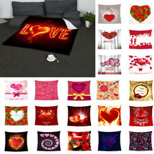 Valentine Gift Blanket Double-layer Flannel Sofa Throw Couch Blanket 30x60inch