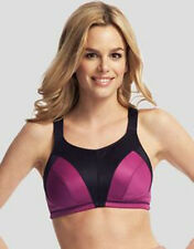 Ladie's High Impact Sports Bra Top Wirefree Active Gym Workout Pink V Sizes NEW