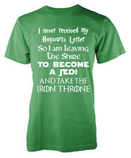 Fun Mash Up Harry Potter LOTR Star Wars Game of Thrones Adult T Shirt