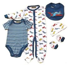 Honour & Pride Baby Boys Vintage Planes Cotton Outfit Layette Clothing Gift Set