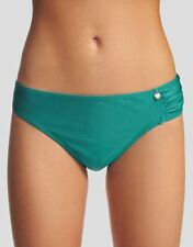 LADIES Figleaves Fortune Rio Ruched Bikini Brief UK 14 Green SWIMWEAR BRAND NEW