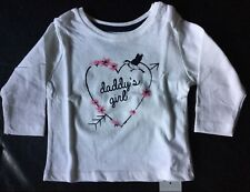 Baby Girls Cream Long Sleeve T Shirt with Daddy's Girl detail