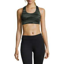 Casall Womens Iconic Sports Support Bra Top Green Gym Running Breathable