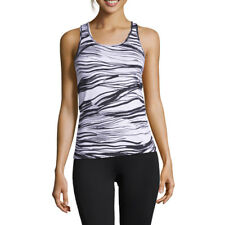 Casall Womens Wave Racerback Training Gym Fitness Tank Black White Sports