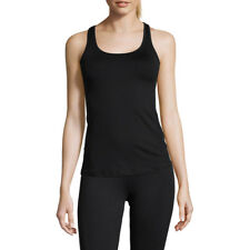 Casall Womens Mesh Back Racerback Training Gym Fitness Tank Black Sports